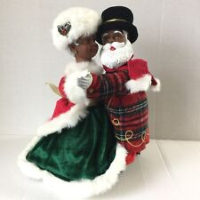 RARE Avon Black Santa And Mrs Claus Holiday Skate African American Musical Dance