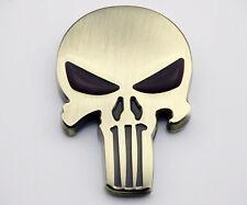 Skull Emblem Badge Sticker Harley Motorcycles Tank Dyna Sportster Fatboy Softail