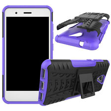 Hybrid Rugged Armor Shockproof Hard Case Stand Cover For ZTE Blade A510 BA510