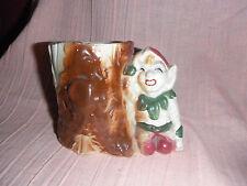 Vintage Pottery Elf by Stump Planter
