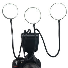 Mcoplus LED Macro Flash Speedlite Flexible Metal Hose for Canon Nikon Cameras