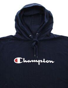 Champion Men's Big & Tall Hoodie Sweatshirt Pullover Script Chest Logo Gym Wear