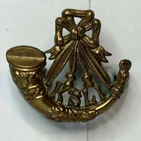 WW1 Kings Shropshire light infantry Economy Cap / Collar Badge 35 x 33 mm
