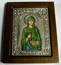HL. idrzmaton PARASKEVAIDIS ARGENTO OKLAD icona SILVER Icon Saint icone IKONA Orthodox