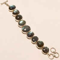 925 Solid Sterling Silver Charming Best Quality Labradorite Bracelet With 15 Grm