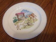 "Copland Spode England Pets Farm vintage Plate, 8"", cow & sheep"