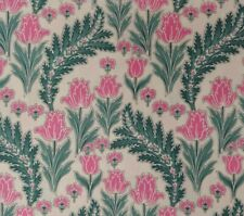 BTY Timeless Treasures ART NOUVEAU Pink Tulips Floral COTTON Quilting Fabric
