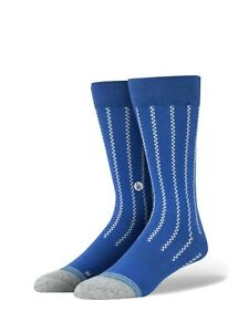 NWT STANCE Vintage LA Dodgers Blue Dress Crew Socks, Size LARGE 9-12
