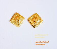 Women's  Rose Gold Plated Ear Stud Hoop Earrings Jewelry ladies girls ua2