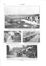 WWI Colonne Camions Militaires Trucks Automobile Cars Autobus Paris ILLUSTRATION