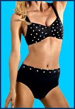 Bikini Eleganti Nero-Arancione personaggio-in-forma 36 o 38 Coppa B Nuovo