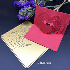 Gold Metal Cutting Dies 3D Stereo Love Heart Scrapbooking Embossing Stencils DIY