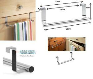 1 x 23cm Over Kitchen Cabinet Door Tea Hand Towel Rail Holder Hanger Storage uk