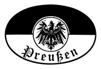 Preußen S / W Blechschild Schild gewölbt Metal Tin Sign 20 x 30 cm FA1023