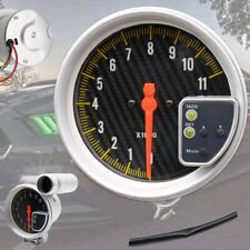 "Universal 5"" Carbon Fiber Style Face w/Aluminum Frame Tachometer Tach Gauge NEW"
