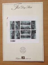 Belgio Primo giorno foglio 2002 TURISMO I CASTELLI DEL BELGIO