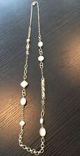 Women's Ann Taylor Loft Gold Chain Stone Necklace Jewelry Accessory