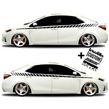 vinyl body GRAPHICS stripes car truck sticker decal 020 + 4 Decals JDM Euro race