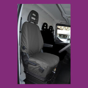 Iveco Daily 2014+ Tailored Waterproof Black Driver Seat Cover Made in the UK