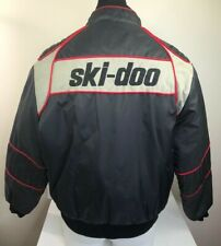 Vintage Ski-Doo Mens L Black/Red/Gray Embroidered Snowmobile Bombardier Jacket