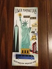 Lower Manhattan Financial District NYC New York NY Destination Walking Map Guide