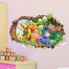 3D view Winnie the Pooh Girls gift kids room decor Wall sticker wall decals