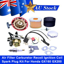 Air Filter Carburetor Recoil Ignition Coil Spark Plug Kit For Honda GX160 GX200