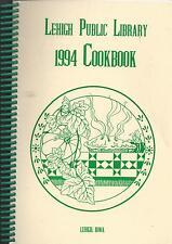 *LEHIGH IA 1994 FRIENDS OF *PUBLIC LIBRARY COOK BOOK *IOWA COMMUNITY RECIPES