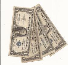 LOT of 4 CIRCULATED 1935 $1 SILVER CERTIFICATES BLUE SEAL! dealar lot 8