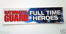 "NATIONAL GUARD...Military Veteran... ""Bumper Sticker"""