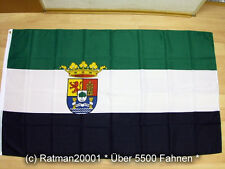 Fahnen Flagge Spanien Estremadura Wappen - 90 x 150 cm