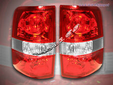 04-08 F150 F-150 TAIL LIGHTS REAR LAMPS RED CLEAR 05 07