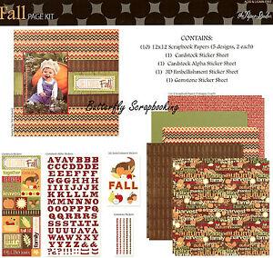 Fall Harvest Thanksgiving 12X12 Scrapbooking Kit The Paper Studio Memories NEW