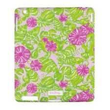 "LILLY PULITZER IPAD 2 / IPAD 3 Sleek Silicone Cover Pink ""CHUM BUCKET"" Apple NEW"
