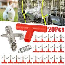 20Pcs Rabbit Water Nipple Drinker Feeders Automatic Waterer Fountain for Ferrets