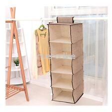 5 Shelf Closet Hanging Clothes Shoes Storage Rack Organizer Pocket Home Hanger
