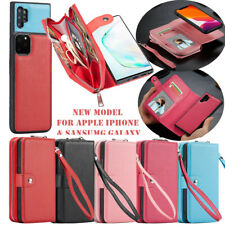 For Samsung Galaxy S20 iPhone 11 Pro Max Leather Card Wallet Case Magnetic Cover