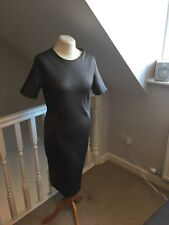 Ladies Top Shop bodycon Dress Size 14 in dark grey with side panels