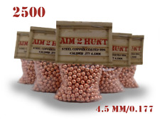 2500 x 4.5mm / 0.177 METAL BALL BB PREMIUM GRADE PELLETS STEEL AIRGUN PISTOL BBS