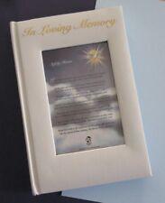 IN LOVING MEMORY - Funeral Guest Book, Christian Memorial, Regina Press, Photo