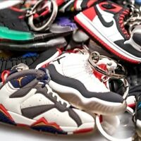 Lot of 30 Nike Air Jordan, Yeezy, Lebron, Curry Shoe Keychains - Random Picks!