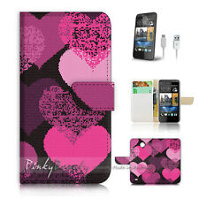 ( For HTC Desire 310 ) Case Cover! Pink Love Heart Pattern P0258