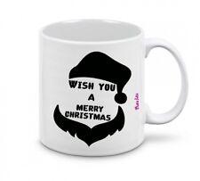 tazza mug 8x10 scritta wish you a merry christmas idea regalo natale