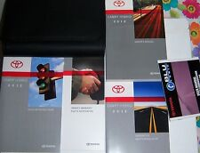 NEW 2012 TOYOTA CAMRY HYBRID OWNERS MANUAL 5 PIECE SET WITH DELUXE CASE OEM