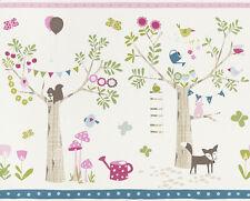 Bordüre Rasch Bambino 247329 / Kinder-Bordüre Blumen Vögel Bäume / EUR 1,65/m