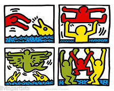 Keith Haring POP SHOP V Quad I 16x20 Poster Pop Art Print