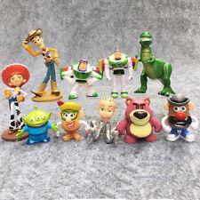 Toy Story Woody Lightyear Rex Alien Bear 10 PCS Action Figure Cake Topper Toy US