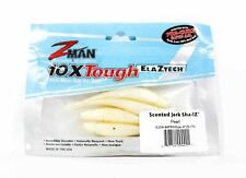 Zman Soft Lure Jerk ShadZ 4 Inch 5 per pack Pearl (4421)