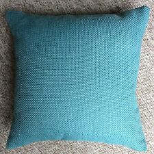 "New 16""x16"" cushion cover Next teal textured fabric zip fastening hand made uk"