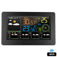 FanJu wifi Digital Weather Station Time Calendar Temperature Humidity Wind